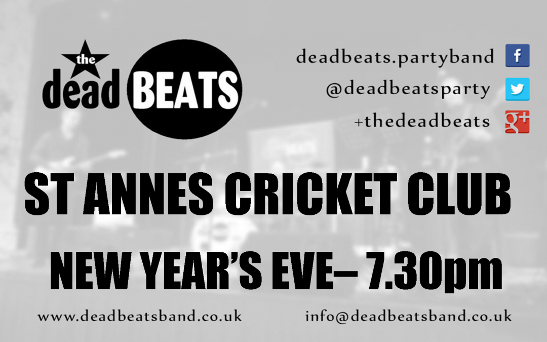 St Annes Cricket Club- New Year's Eve