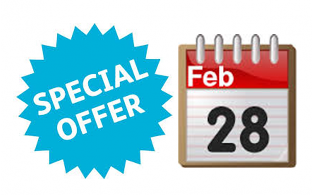 Special Offer- Sat 28 Feb '15