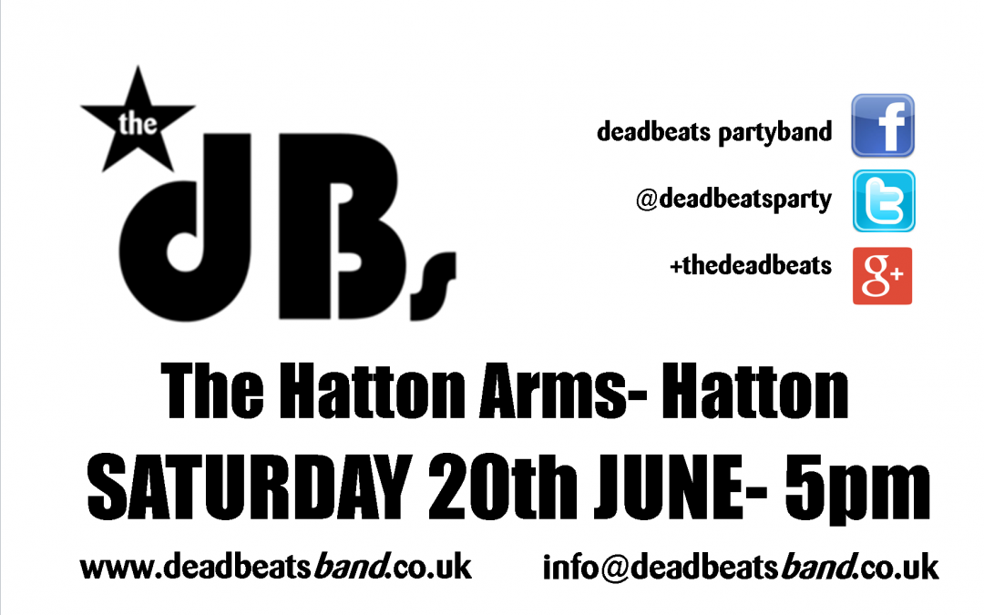 The dB's at The Hatton Arms- Hatton (5pm)
