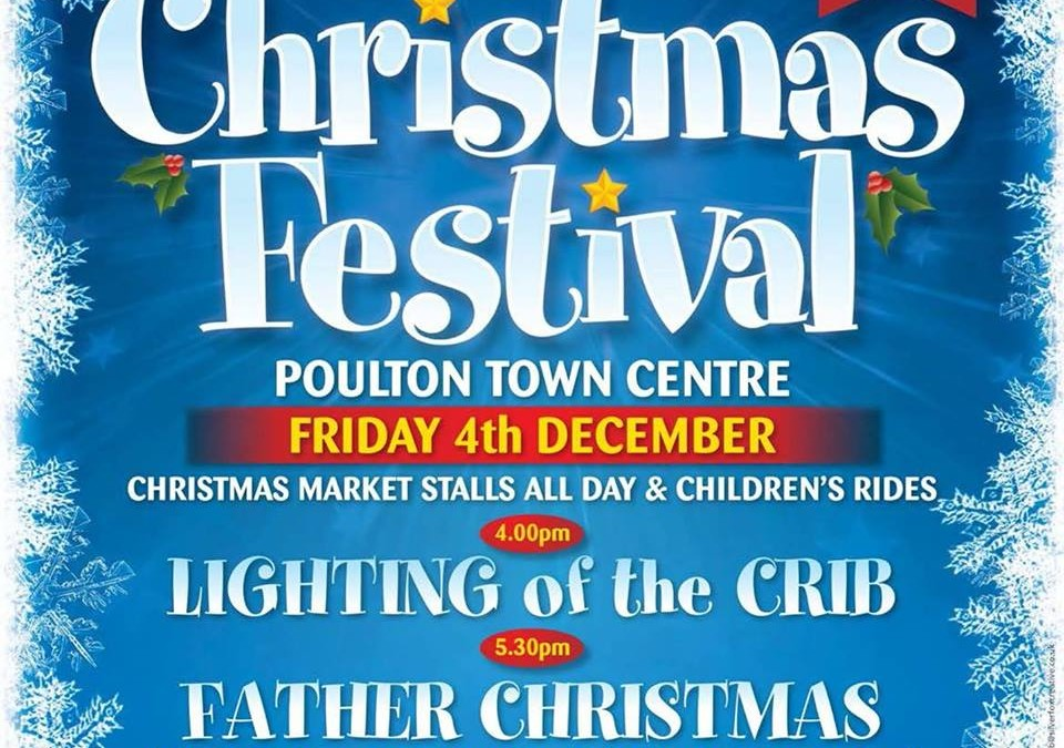 Poulton Xmas Festival- Fri 4 Dec- 6pm