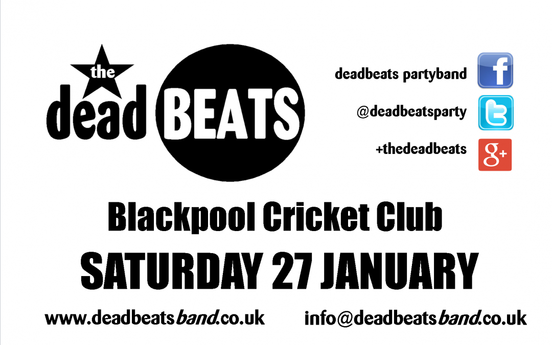 Blackpool Cricket Club- Sat 27 Jan