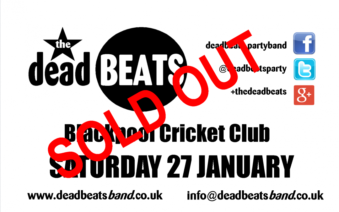 Blackpool Cricket Club- Sold Out