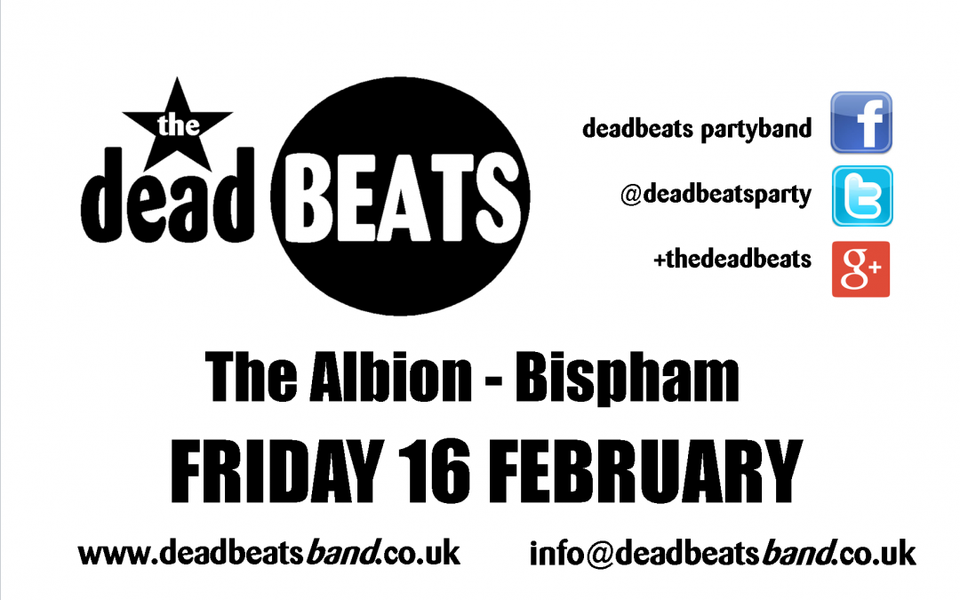 The Albion- Bispham – THIS FRIDAY!