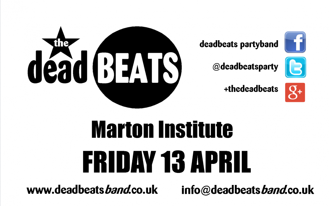 Marton Institute – Friday 13 April