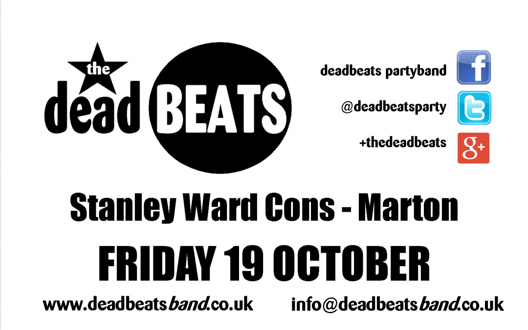 Stanley Ward Club – Fri 19th Oct