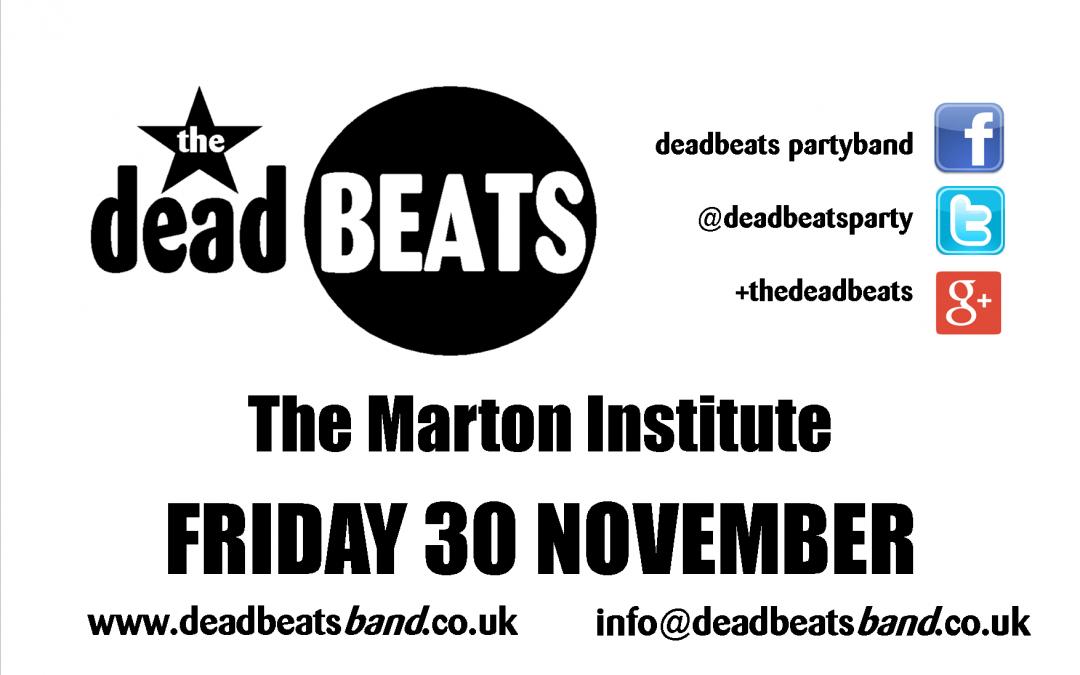 Marton Institute – Fri 30th November
