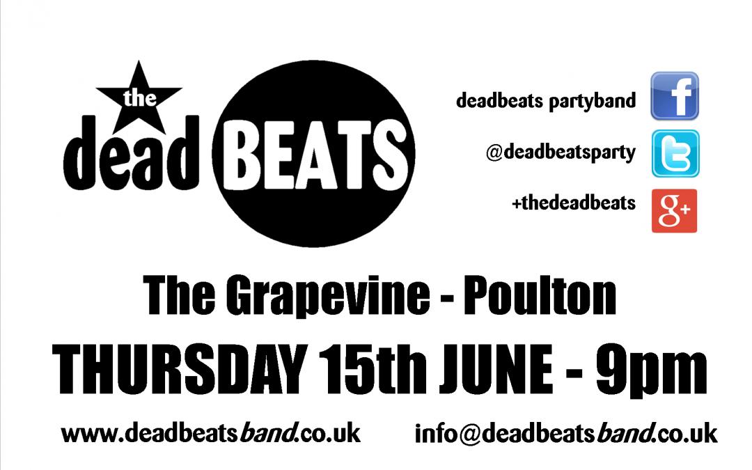 STOP PRESS! Grapevine Poulton- This Thursday 15 June