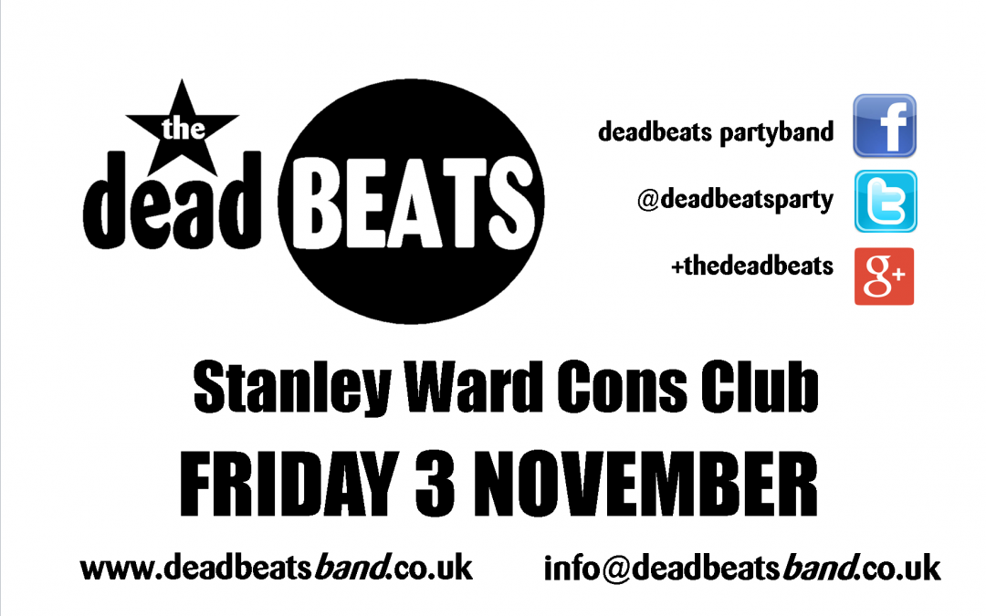 Stanley Ward- This Friday 3 Nov
