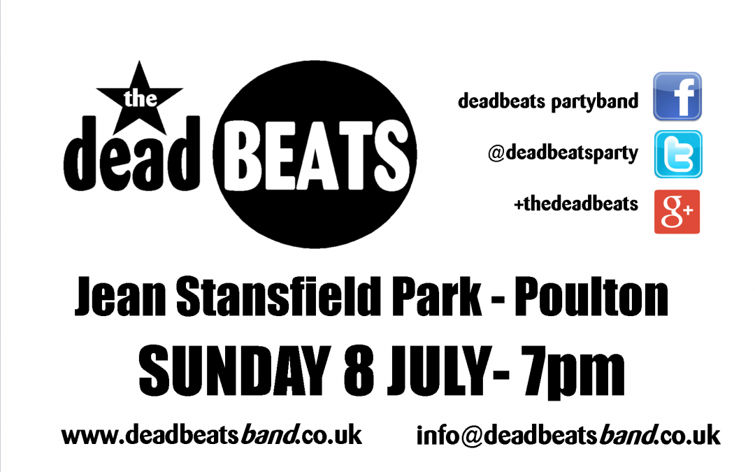 Poulton Jean Stansfield Park- This Sunday 8th June 7pm