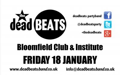 The Bloomfield Club- Fri 18th Jan