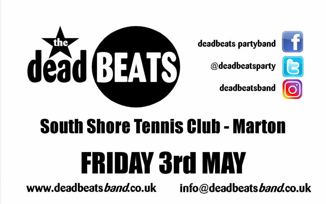 South Shore Tennis Club- Fri 3 May