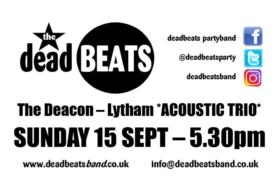Deacon Acoustic Sessions – Lytham Square – This Sunday from 5pm
